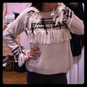 For love and lemons knitz Denver fringe sweater